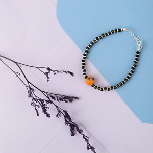 Wood-look Bead Evil-eye Nazariya Anklet (Single/Pair)