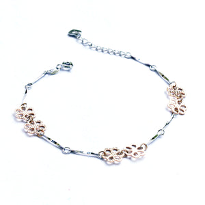 The Dual-colour Stem and Flower Bracelet
