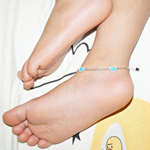 The Turquoise Butterfly Kids Anklet (Single)