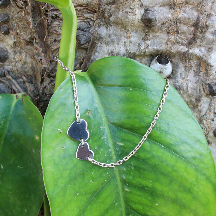 Coupled Silver Heart Anklet (Single/Pair)