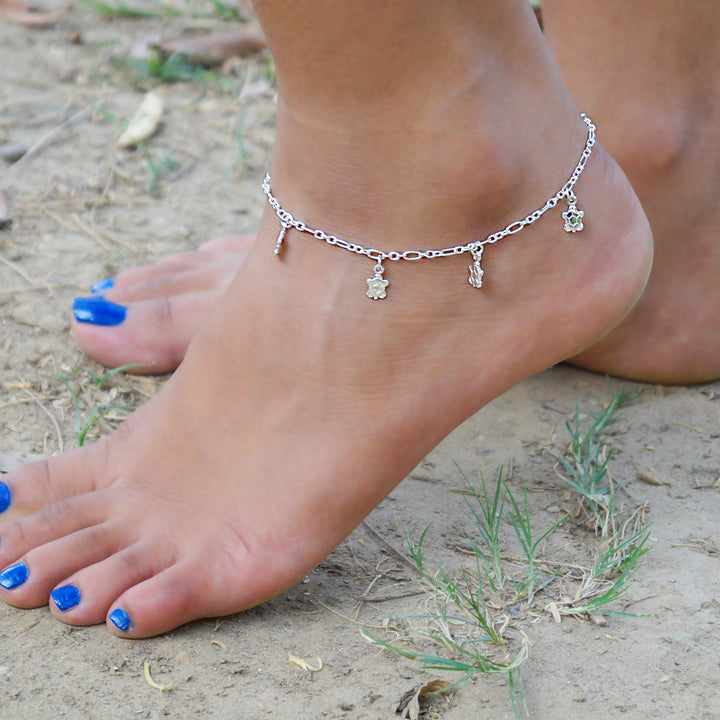 Turtle Charms Anklet (Single/Pair)