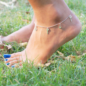 Key to Splendid Feet Anklet (Single/Pair)