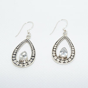 Cut-Stone Drop Hanging Earrings