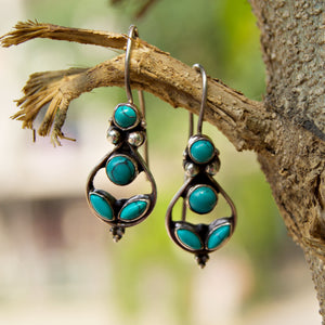The Turquoise Drop Earrings
