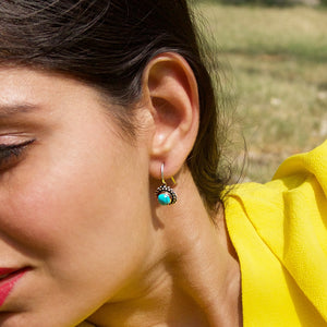 Stellar Turquoise Oxidised Earrings