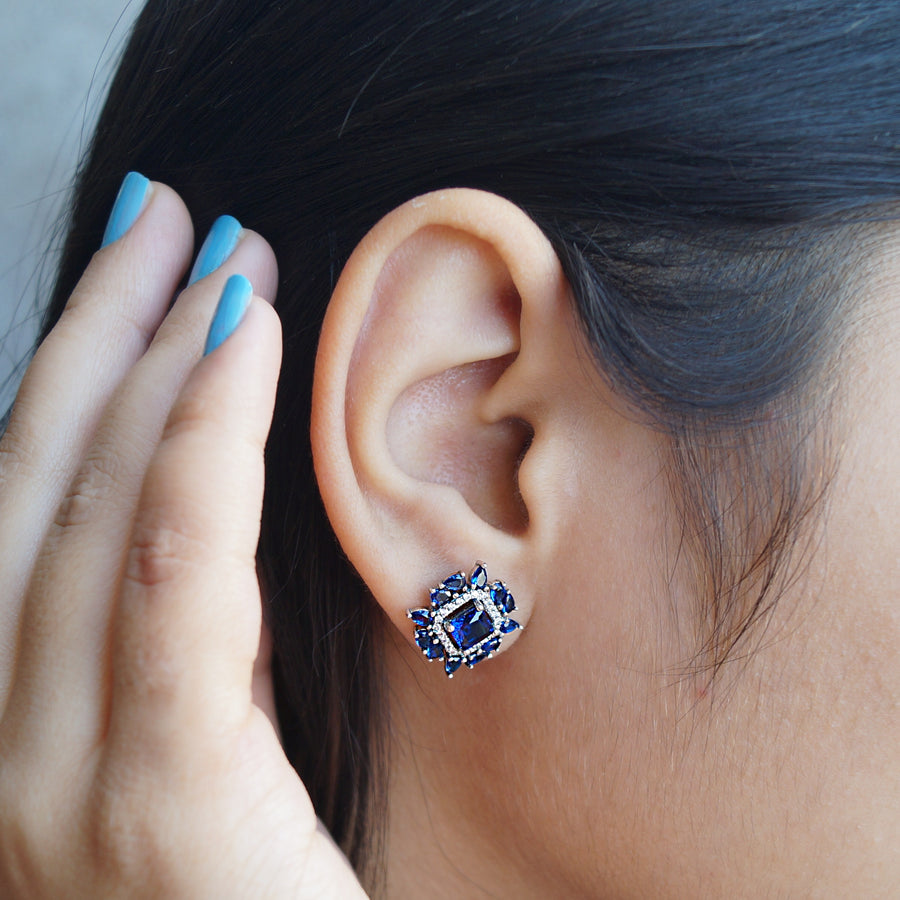 The Scatered Sapphire Studs