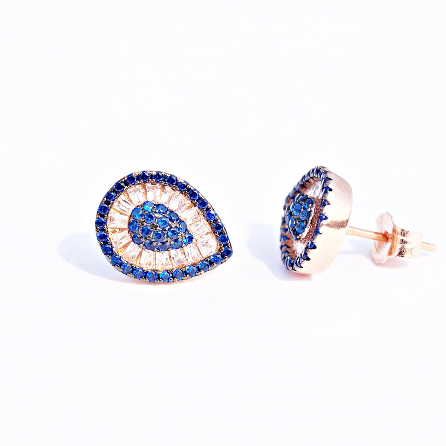 The Rose Gold Drop Studs