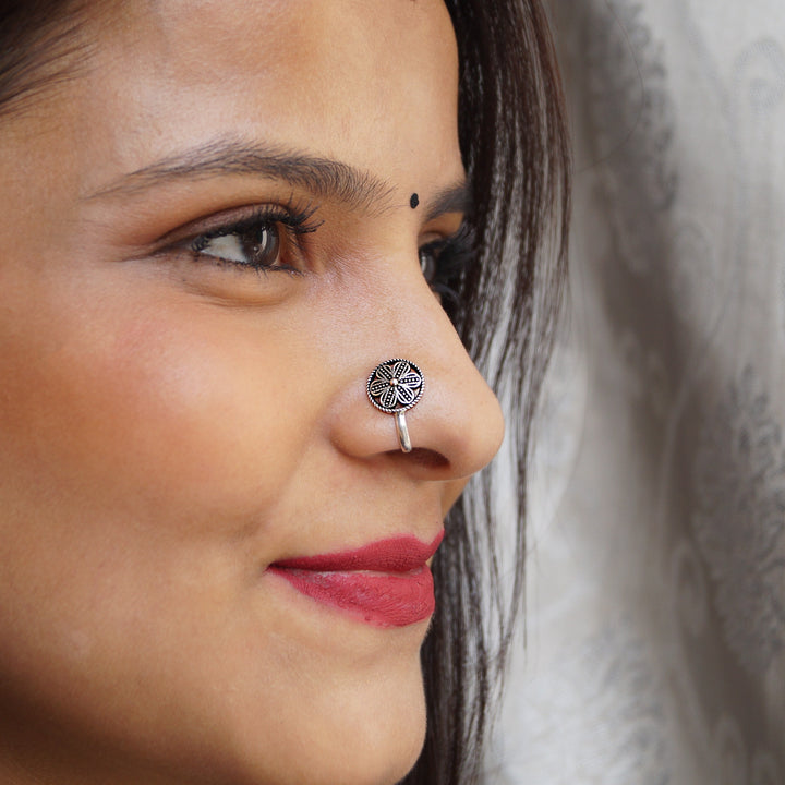 The Phool Chakra Clip on Nose pin