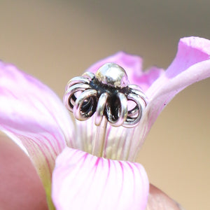 Imperial Silver Flower Nose Pin