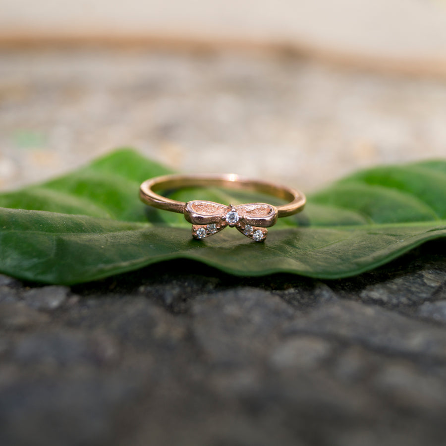 The Rose Gold Midi cum Casual Bow Ring