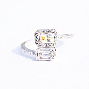 The Adjustable Yellow Sapphire Baguette Ring