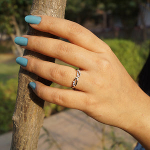 The Infinity Cz Midi cum Casual Ring