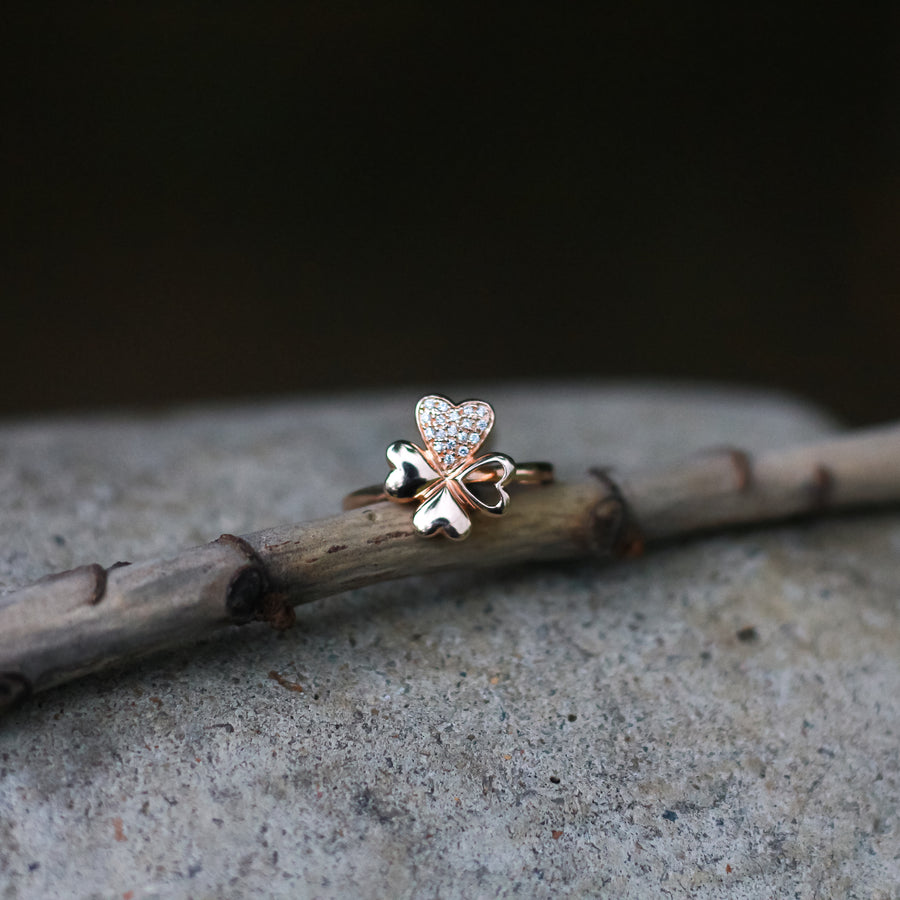 The Rose Gold Flower Ring