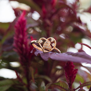 The Rose Gold Heart Ring