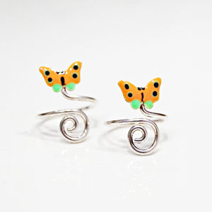 The Swirl Butterfly Toe Ring