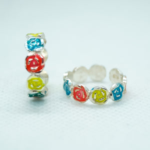 The Rainbow Of Flowers Toe Ring