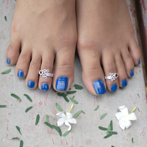 Blooming Orchid Toe Rings