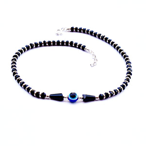 Evil Eye Guardian Nazariya Anklet with Pear Beads (Single/Pair)