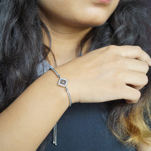 The Idiosyncratic Half Kada Half Adjustable Chain Bracelet