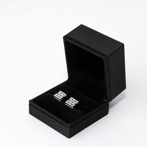 The Diamond Chess Earrings