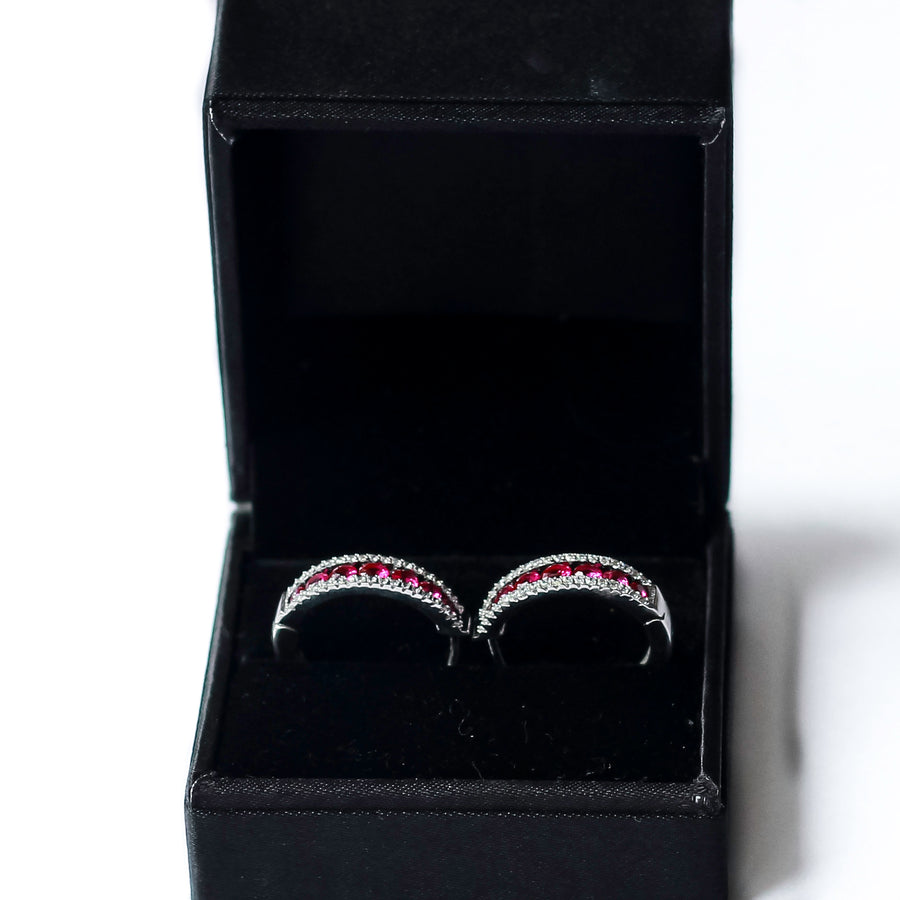 The Scarlet Hoop Earrings
