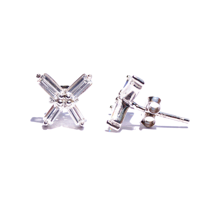 The Baguette Cut Glamour Stud Earrings