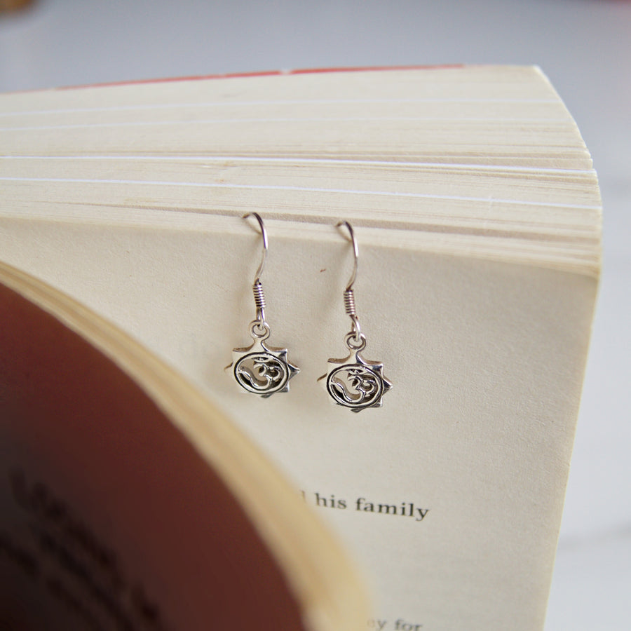 The Silver Om Earrings