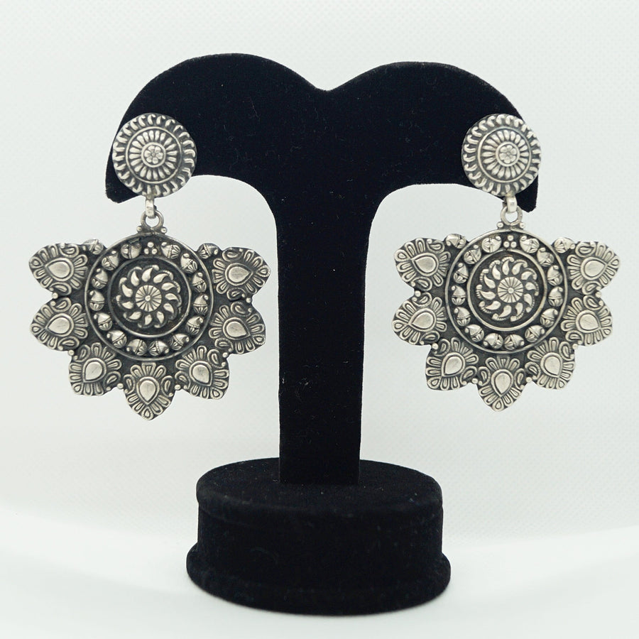 Oxidized Sunny Jhumka Earrings
