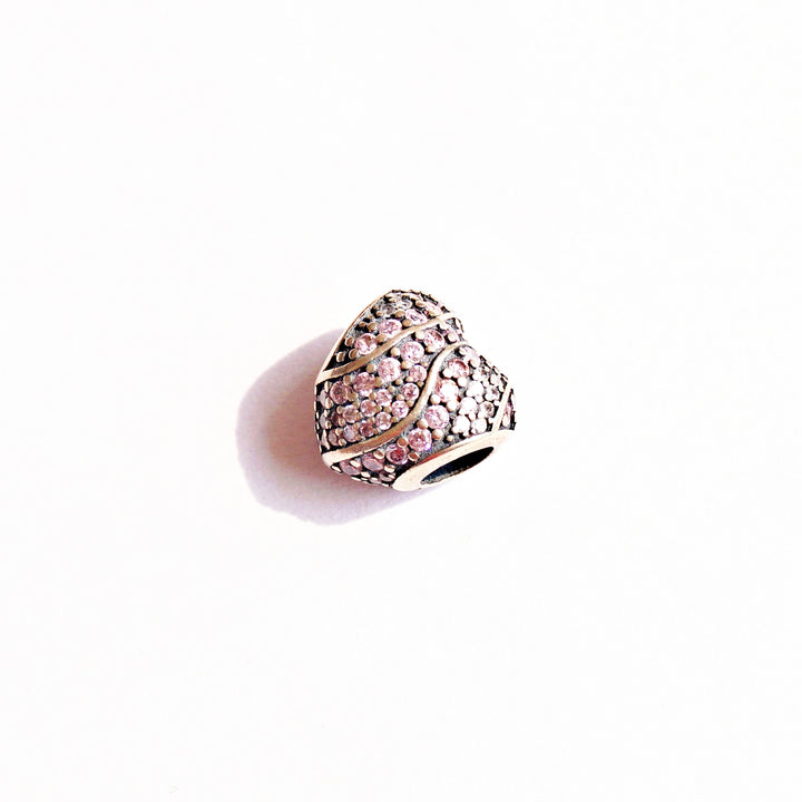 The Violet Cz Heart Charm