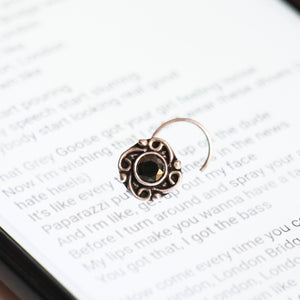 The Boho Flower Nose Pin