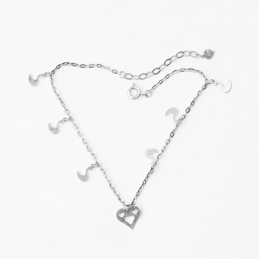 Silver Love Anklet (Single)