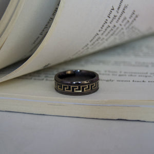 The Exclusive Greek Wave Brown Silver Ring