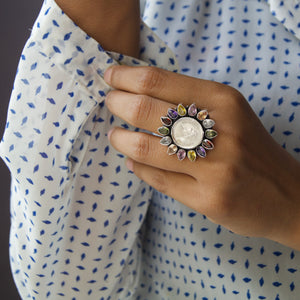 The Multi Coloured Coin Ring