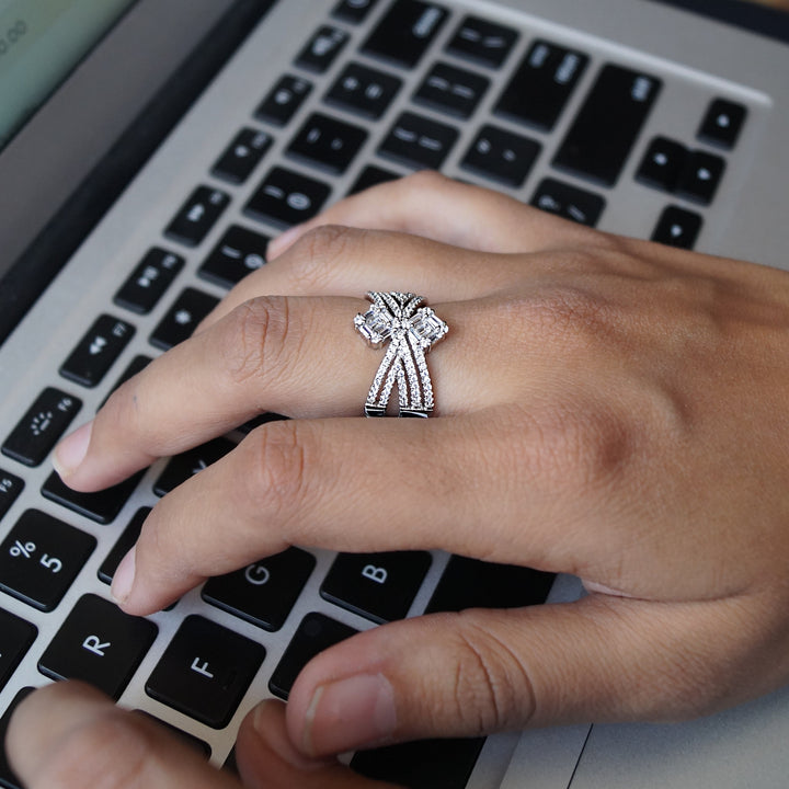 The Cross of Diamonds Ring