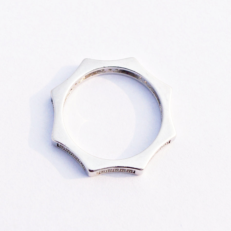 The Curvaceous Octa Cz Ring Band