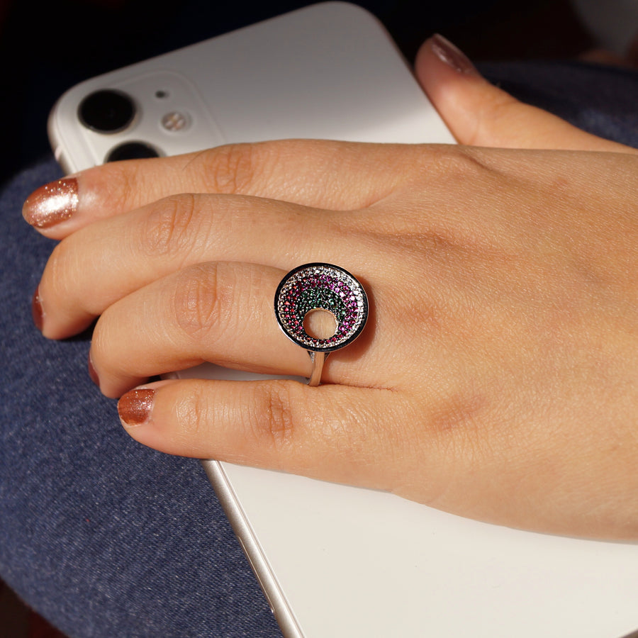 The Colourfull Evileye Ring