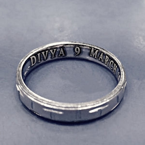 Customised Name Carved Ring