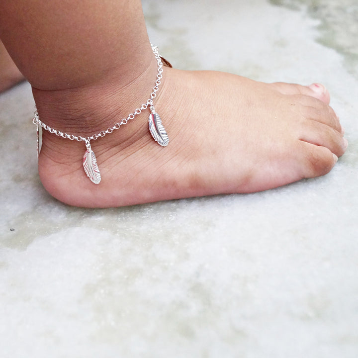 The Feather Kids Anklet (Single/Pair)