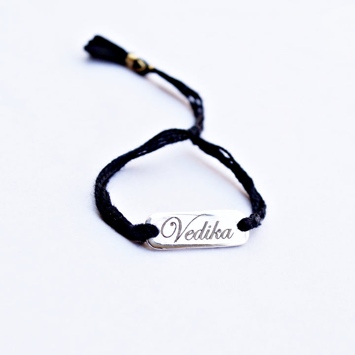 Customised Name Carved Thread Bracelet/Anklet