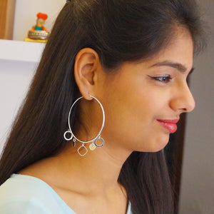 Big Hoops with Circle Charms