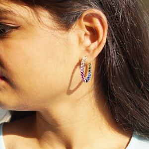 The Catterpillar Multi-stone Hoops