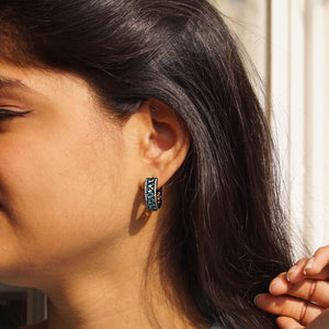 The Brown Silver Akarshak Earrings