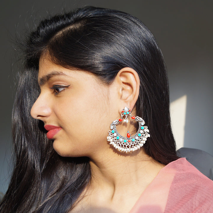 The Parrot and Ratna Chandbali Earrings