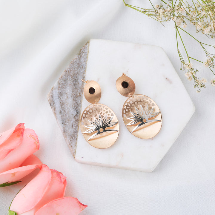 The Rose-gold Wisdom Tree Earrings