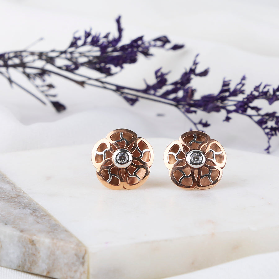 The Abstract Flower Studs