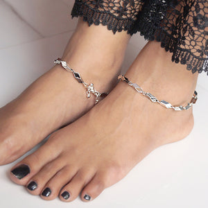 Hollow Beads Anklet (Pair)