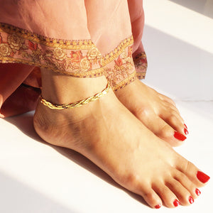 The Golden Plates Anklet (Single)