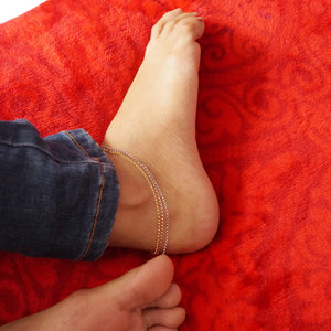 The Tri-coloured Anklet (Single/Pair)