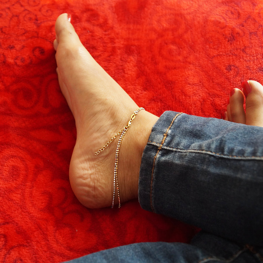Dual Coloured Anklet (Single/Pair)