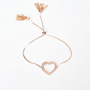 The Striking Heart Adjustable Bracelet